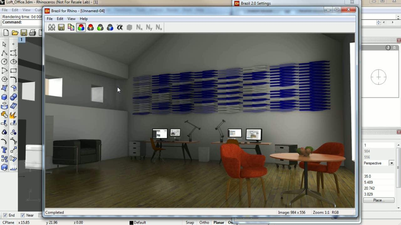 Three methods for interior lighting with Brazil for Rhino