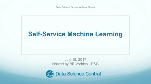 Self-Service Machine Learning