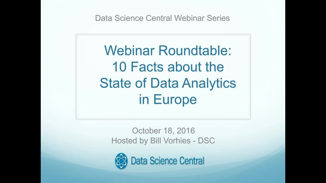 Open Roundtable: 10 Facts about the State of Data Analytics in Europe