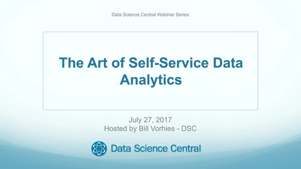 The Art of Self-Service Data Analytics