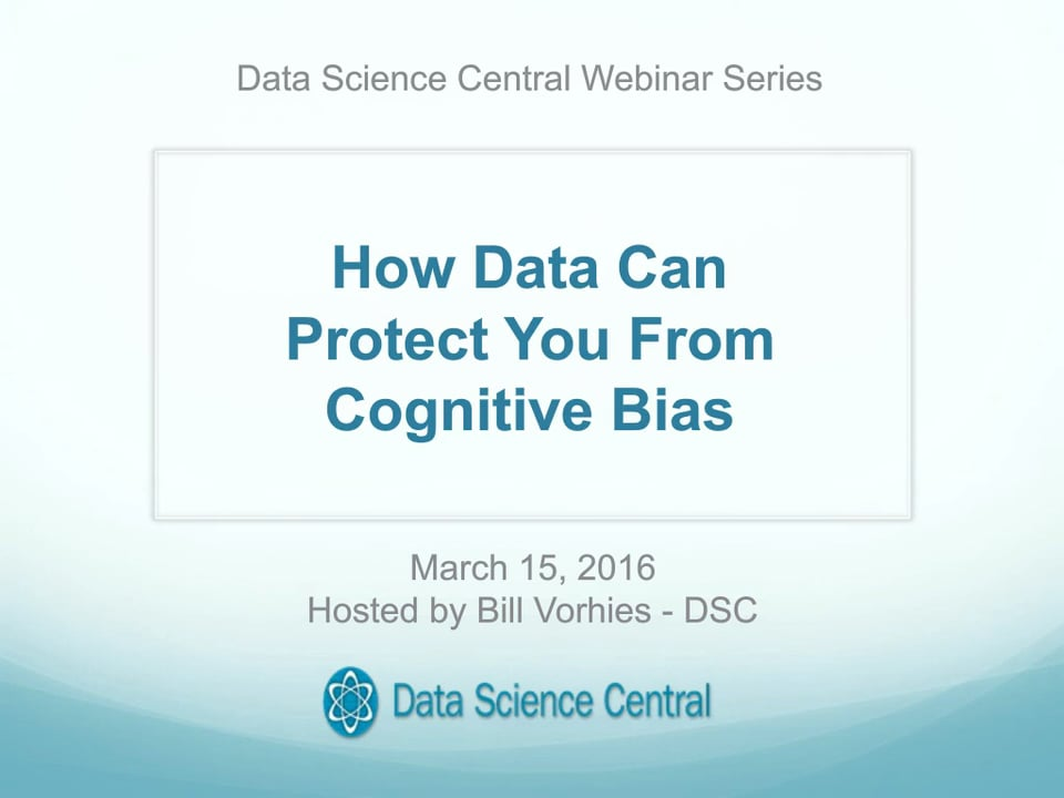 How Data Can Protect You From Cognitive Bias