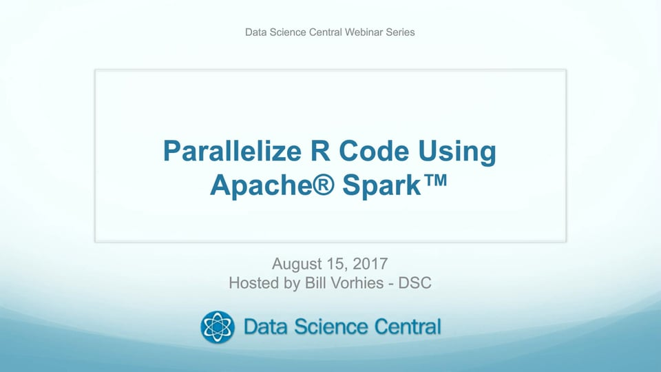 Parallelize R Code Using Apache® Spark™
