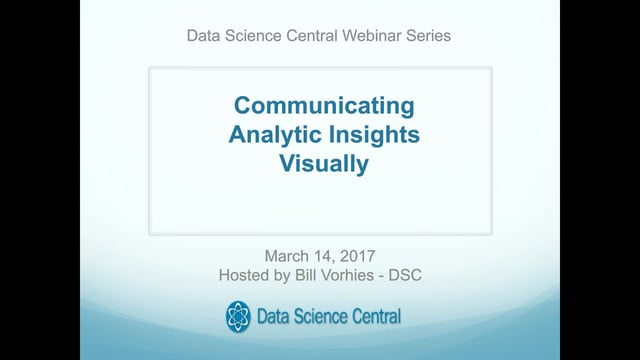 Communicating Analytic Insights Visually