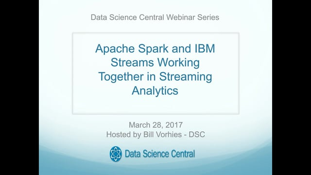 Apache Spark and IBM Streams Working Together in Streaming Analytics