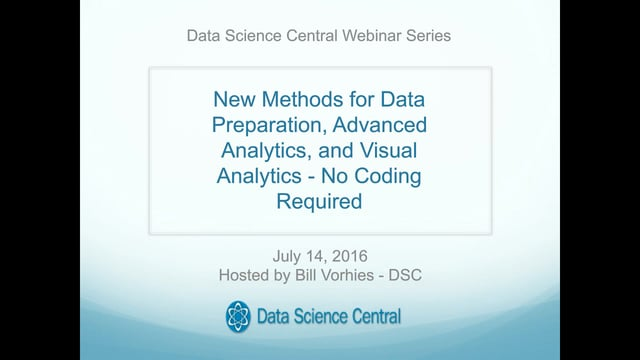 New Methods for Data Preparation, Advanced Analytics, and Visual Analytics