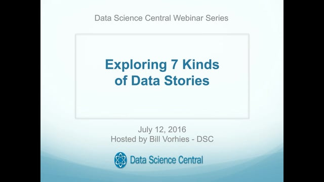 Exploring 7 Kinds of Data Stories