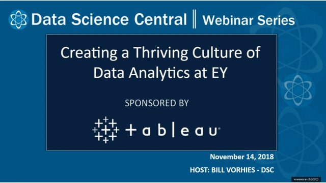 DSC Webinar Series: Creating a Thriving Culture of Data Analytics at EY