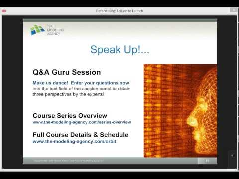 May 5 2015 Data Mining Webinar: Live Q&A Session