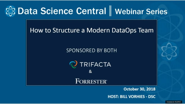 DSC Webinar Series: How to Structure a Modern DataOps Team