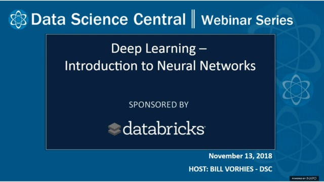 DSC Webinar Series: Deep Learning - Introduction to Neural Networks