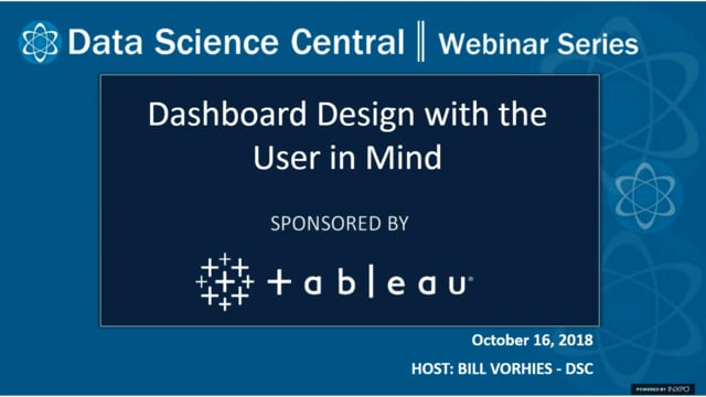 DSC Webinar Series: Dashboard Design with the User in Mind