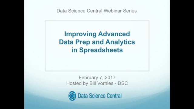 Improving Advanced Data Prep and Analytics in Spreadsheets