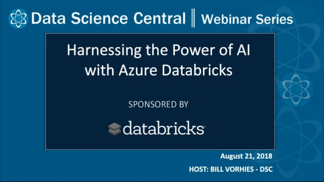 DSC Webinar Series: Harnessing the Power of AI with Azure Databricks