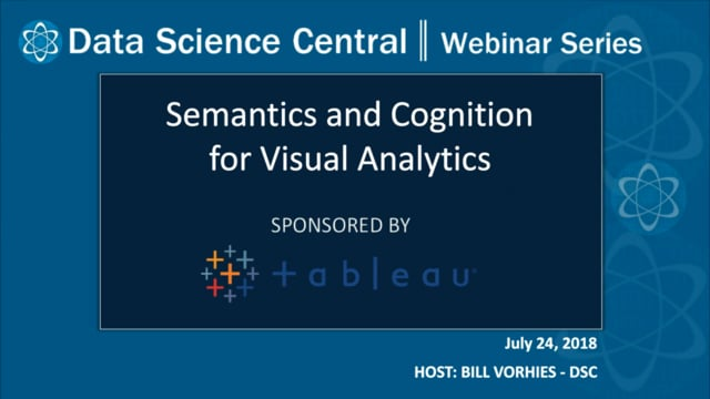 DSC Webinar Series: Semantics and Cognition for Visual Analytics