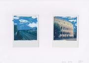 Antistress - Roma - smalto su 2 Polaroid (Impossible 600 color) - 2016