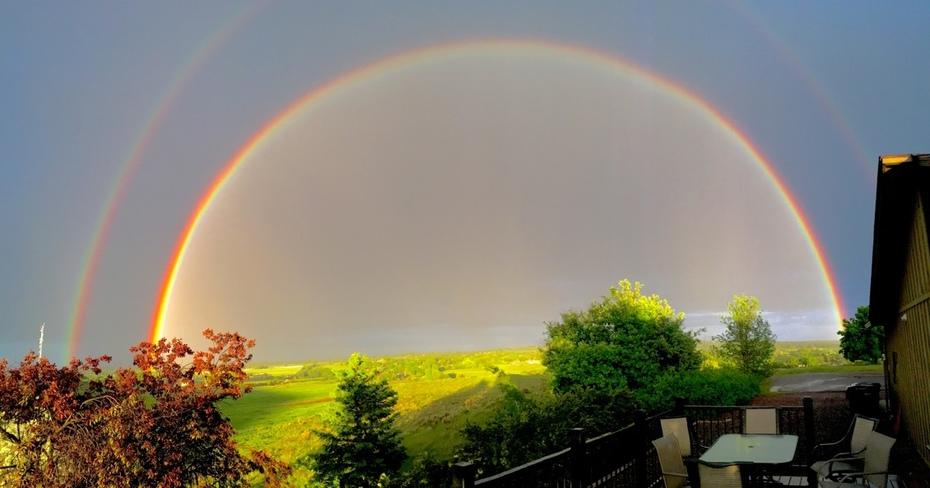 Rainbow over east Boulder County
