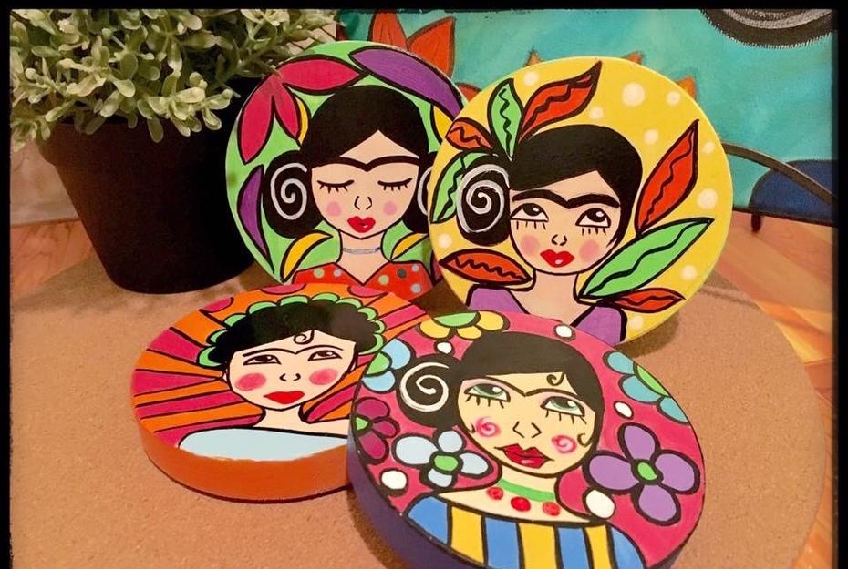 Frida Wooden Coasters