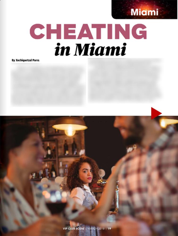 Cheating in Miami