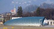Non-reflective hangar at Salzburg airport