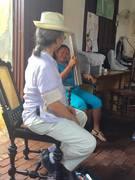 Idalis Ramirez blesses Cuba PDJ staff wood 2016