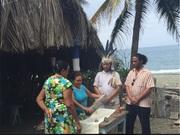 Idalis Rojas blessing Cuba PDJ staff wood