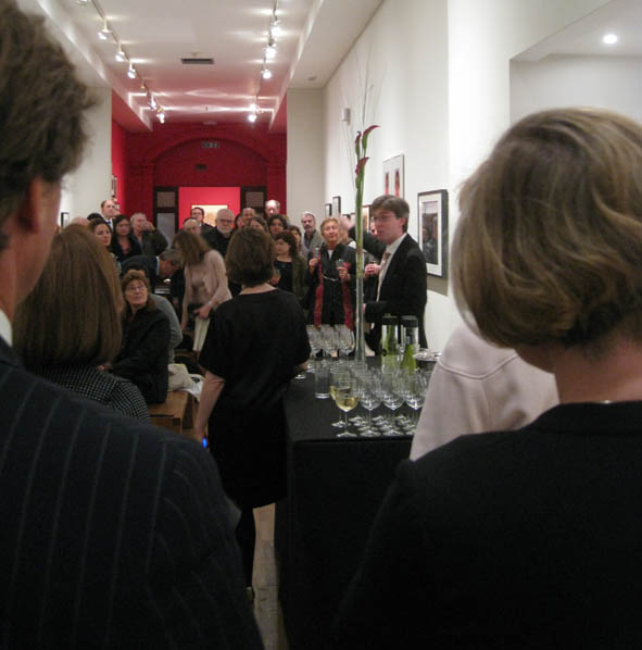 Martin Barnes welcomes guest to the new photography gallery