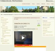 Transmisión por TV on line de las Jornadas de experiencias de utilización de los medios audiovisuales en el aula.