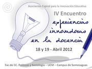 IV Encuentro de Experiencias Innovadoras en la Docencia