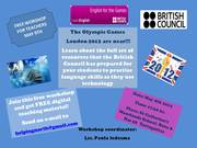 Free Workshop for Teachers: BRITISH COUNCIL- ENGLISH FOR THE GAMES