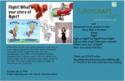 """Story Slam The Fuller Crafts Museum Brockton 10/9 """"flight"""" is the  theme"""