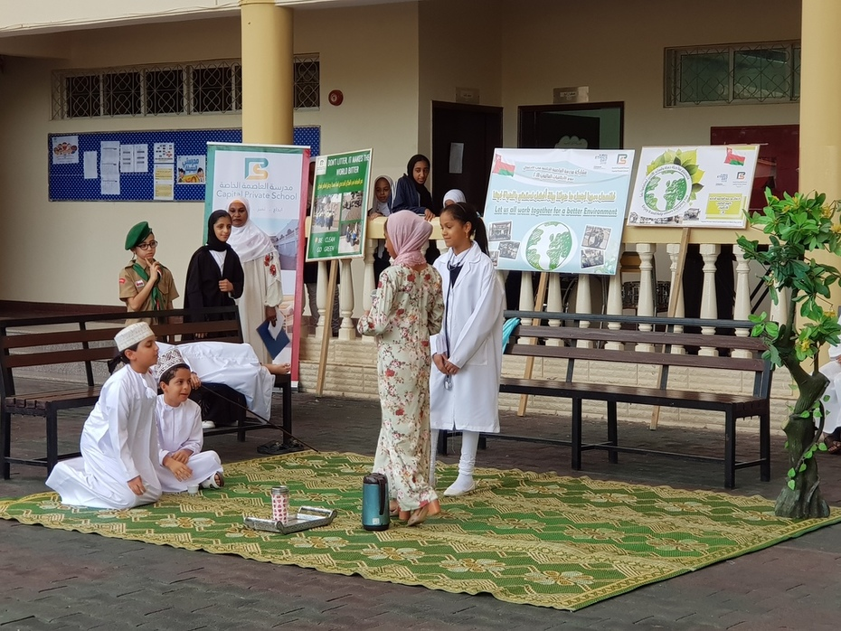 Scene from the Gender Issue Skit - CPS. Oman