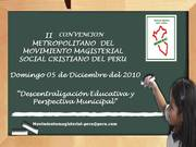 II CONVENCION DE PROFESORES SOCIAL CRISTIANOS DEL PERU