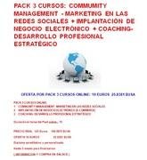 Pack 3 cursos online: Community Management + E-Comerce (Comercio Electronico) + Coachin Empresarial