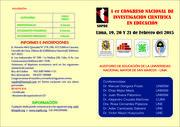 Congreso Nacional de Investigación Científica