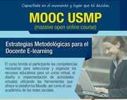 """MOOC USMP 4ta Edición """"Estrategias Metodológicas para el Docente E-learning"""""""