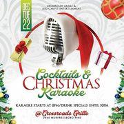 Cocktails and Christmas Karaoke