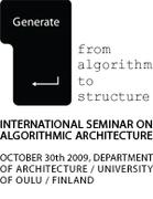 GENERATE: International Seminar on Algorithmic Architecture