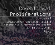 Co-de-iT - Conditional Proliferations – GH Workshop - Roma