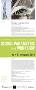 architettura, natura sostenibile, di qualità DESIGN PARAMETRIC first WORKSHOP