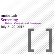 SCREENING: Pattern + Prototyping with Grasshopper
