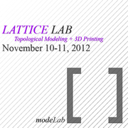 LATTICE LAB: Topological Modeling + 3D Printing