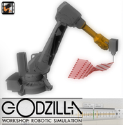 Robotic Simulation Workshop: Godzilla by RoboFold, London