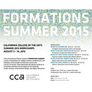CCA Formations Summer Workshops 2015