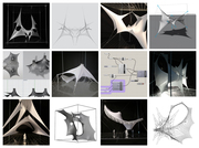 Grasshopper-Kangaroo Workshop: Flexible Matter - Experiments with analogue and digital form-finding of membranes