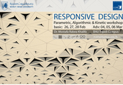 RESPONSIVE _DESIGN Parametric, Algorithmic & Kinetic Workshop