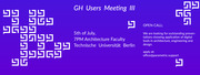 Grasshopper Users Meeting III