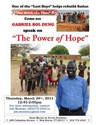 "Gabriel Bol Deng - ""Lost Boys of Sudan"""