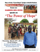 "Gabriel Bol Deng - ""Lost Boys of Sudan"""