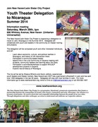 Youth Theater Delegation to Nicaragua Info Meeting