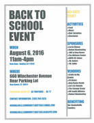 4th Annual Back to School Event